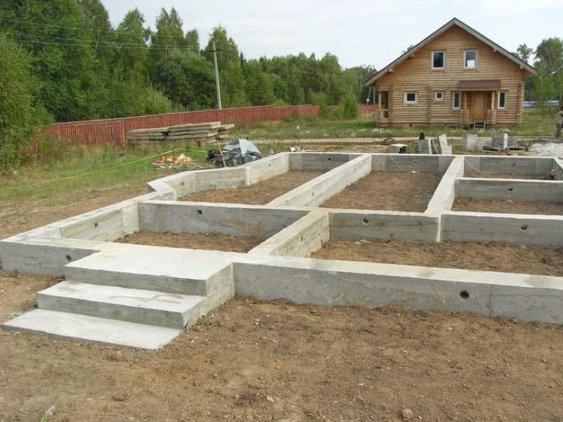 Виды фундаментов для загородного дома.