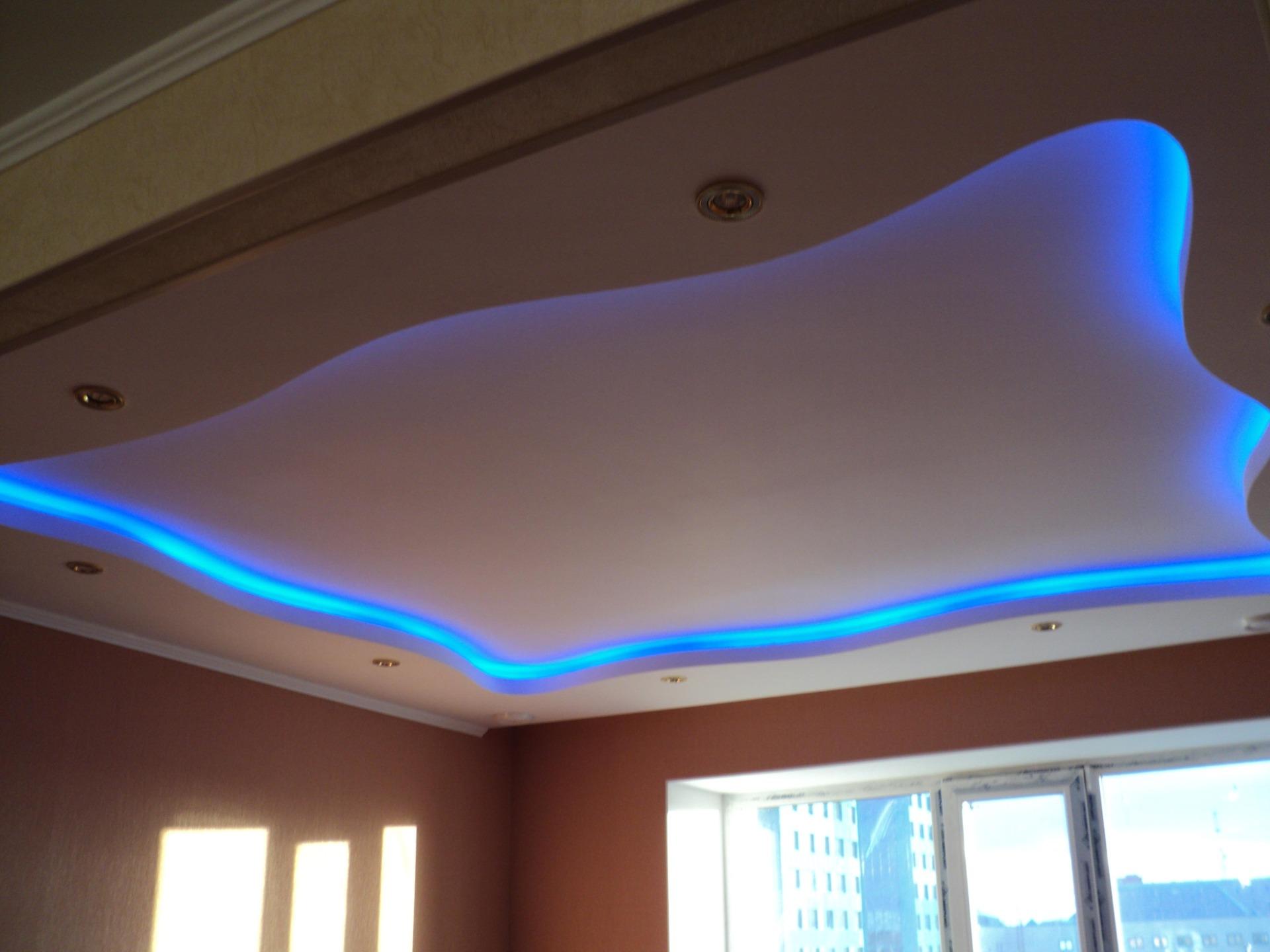 Потолок с гипсокартона