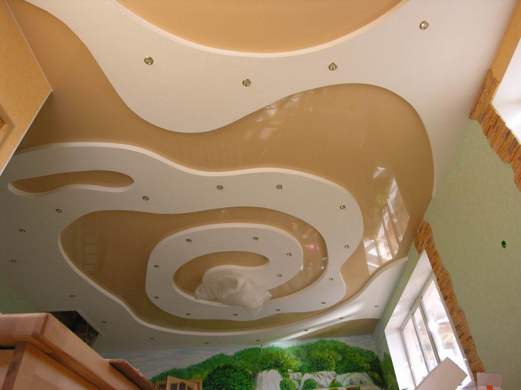 Дизайн потолка из ГКЛ